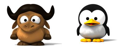 Unir imagenes desde la línea de comando - Baby GNU y Baby Tux