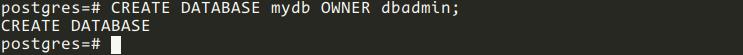 Crear base de datos